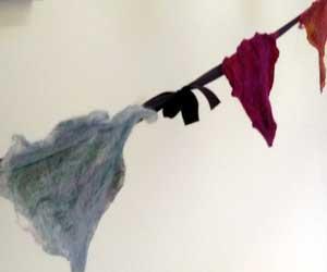 Yarn bombing at Bakewell Wool Gathering