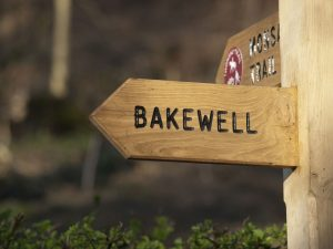 Book tickets online - sign to Bakewell