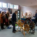 Spinning wheels and stalls in the Meeting Room