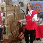 Murmuring Wheel with Diane Fisher on the spinning wheel
