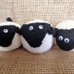 Knitted and crocheted sheep